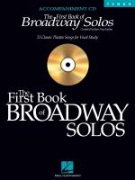 The First Book Of Broadway Solos Tenor Accompaniment CD Sheet Music