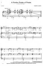 A Festive Psalm Of Praise Sheet Music Sheet Music