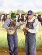 Bluegrass Cowboys Mouse Pad Sheet Music