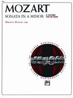 Sonata In A Minor, K. 310 - Book Sheet Music