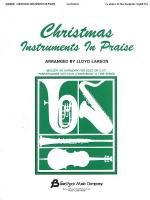 Christmas Instruments In Praise Eb Instruments (Eb Alto Saxophone, Eb Baritone Saxophone & Others) Sheet Music