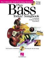 Play Bass Today! Songbook Sheet Music