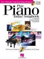 Play Piano Today! Songbook Sheet Music