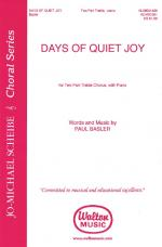 Days Of Quiet Joy Sheet Music Sheet Music