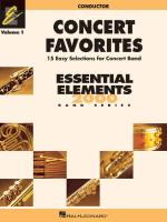 Concert Favorites Volume 1 - Value Pack (37 Part Books With Conductor Score And CD) Sheet Music