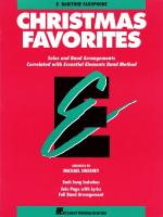 Essential Elements Christmas Favorites Eb Baritone Saxophone Sheet Music