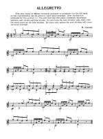 Right Hand Studies for Classic Guitar Sheet Music