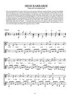 Songs of the British Isles for Guitar Sheet Music