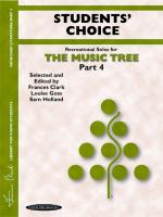 The Music Tree: Students' Choice, Part 4 (A Plan for Musical Growth at the Piano) - Book Sheet Music