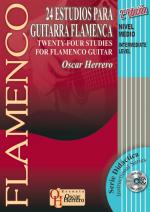 24 Studies For Flamenco Guitar, Intermediate Level Book/CD Set 2nd Edition (24 Estudios para guitarr Sheet Music