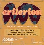 La Bella CRITERION Acoustic Guitar C520S Light Gauge String Set Sheet Music