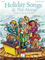Holiday Songs And Play-Alongs Arranged For Voices And Orff Instruments Sheet Music
