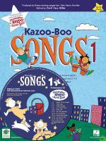 Kazoo-Boo Songs 1 CD Piano/A CD For Kazoo-Boo Songs 1 Includes Guide Tracks With Kids' Voices Sheet Music