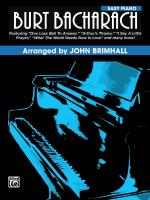 Burt Bacharach - Book Sheet Music