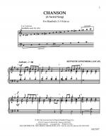 Chanson A Sacred Song Sheet Music
