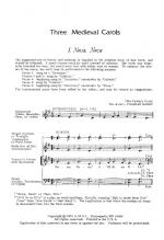 Three Medieval Carols Sheet Music Sheet Music