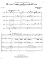 Rhythmic Variations On Two Ancient Hymns - FULL SCORE - LARGE Sheet Music