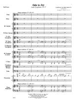 Ode To Joy - FULL SCORE - LARGE Sheet Music