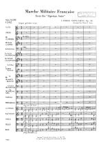 March Militaire Francaise, From The Algerian Suite, Opus 60 - Opus 60 FULL SCORE - LARGE Sheet Music
