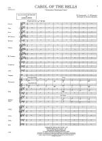 Carol Of The Bells - FULL SCORE - LARGE Sheet Music