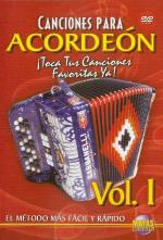 Canciones Para Acordeon Vol. 1, Spanish Only DVD (Play Your Favorite Songs With The Accordion Vol. 1 Sheet Music