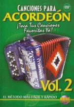 Canciones para Acordeon Vol. 2, Spanish Only DVD (Play Your Favorite Songs With The Accordion Vol. 2 Sheet Music