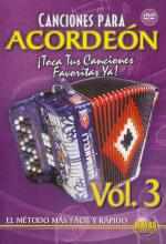 Canciones para Acordeon Vol. 3, Spanish Only DVD (Play Your Favorite Songs With The Accordion Vol. 3 Sheet Music