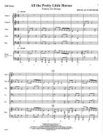 All The Pretty Little Horses - FULL SCORE - LARGE Sheet Music