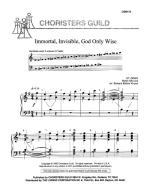 Immortal Invisible, God Only Wise Sheet Music Sheet Music