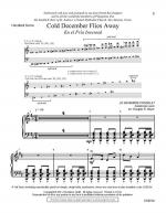 Cold December Flies Away - Handbell Score En el Fr Sheet Music