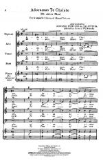 Adoramus Te Christe - (We Adore Thee) PIANO REDUCTION/VOCAL SCORE Sheet Music