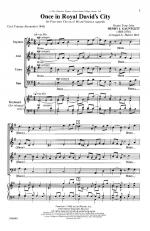 Once In Royal David's City - CHORAL PART(S) Sheet Music