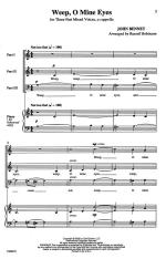 Weep, I Mine Eyes - PIANO REDUCTION/VOCAL SCORE Sheet Music
