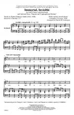 Immortal, Invisible - CHORAL PART(S) Sheet Music