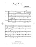 Weep, O Mine Eyes - PIANO REDUCTION/VOCAL SCORE Sheet Music