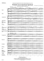 Prelude On An American Spiritual - FULL SCORE - LARGE Sheet Music