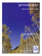 September Morn - For Flute, Oboe & Harp Sheet Music