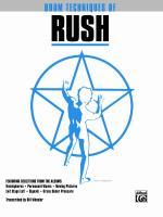Drum Techniques of Rush - Book Sheet Music