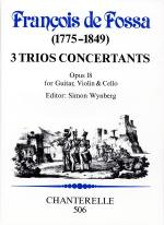 de Fossa: 32 Trios Concertants, op. 18 Sheet Music
