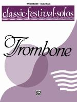 Classic Festival Solos (Trombone), Volume 1 Solo Book Sheet Music