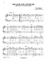 Because You Loved Me (Theme from Up Close & Personal) - Sheet Music Sheet Music