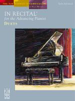 In Recital For The Advancing Pianist, Duets Sheet Music