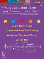 Write, Play, And Hear Your Theory Every Day Book 5 (With CD) Sheet Music