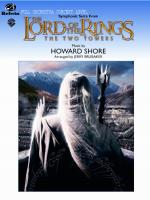The Lord Of The Rings: The Two Towers, Symphonic Suite From (Featuring: Forth Eorlingas / Evenstar / Sheet Music