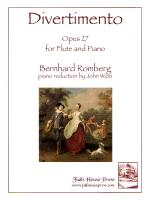 Divertimento Opus 27 - For Flute And Piano Sheet Music