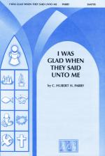 I Was Glad When They Said Unto Me Sheet Music - Choral Octavo Sheet Music