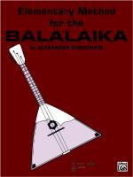 Elementary Method for the Balalaika - Book Sheet Music