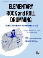 Elementary Rock and Roll Drumming (A Basic Step-by-Step Method and Study for the Younger Player) - B Sheet Music