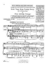 Irish Tune From County Derry And Shpherd's Hey - FULL SCORE - LARGE Sheet Music