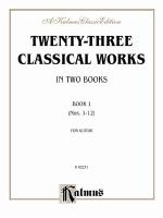 Twenty-Three Classical Works For Two Guitars, Book 1 Sheet Music